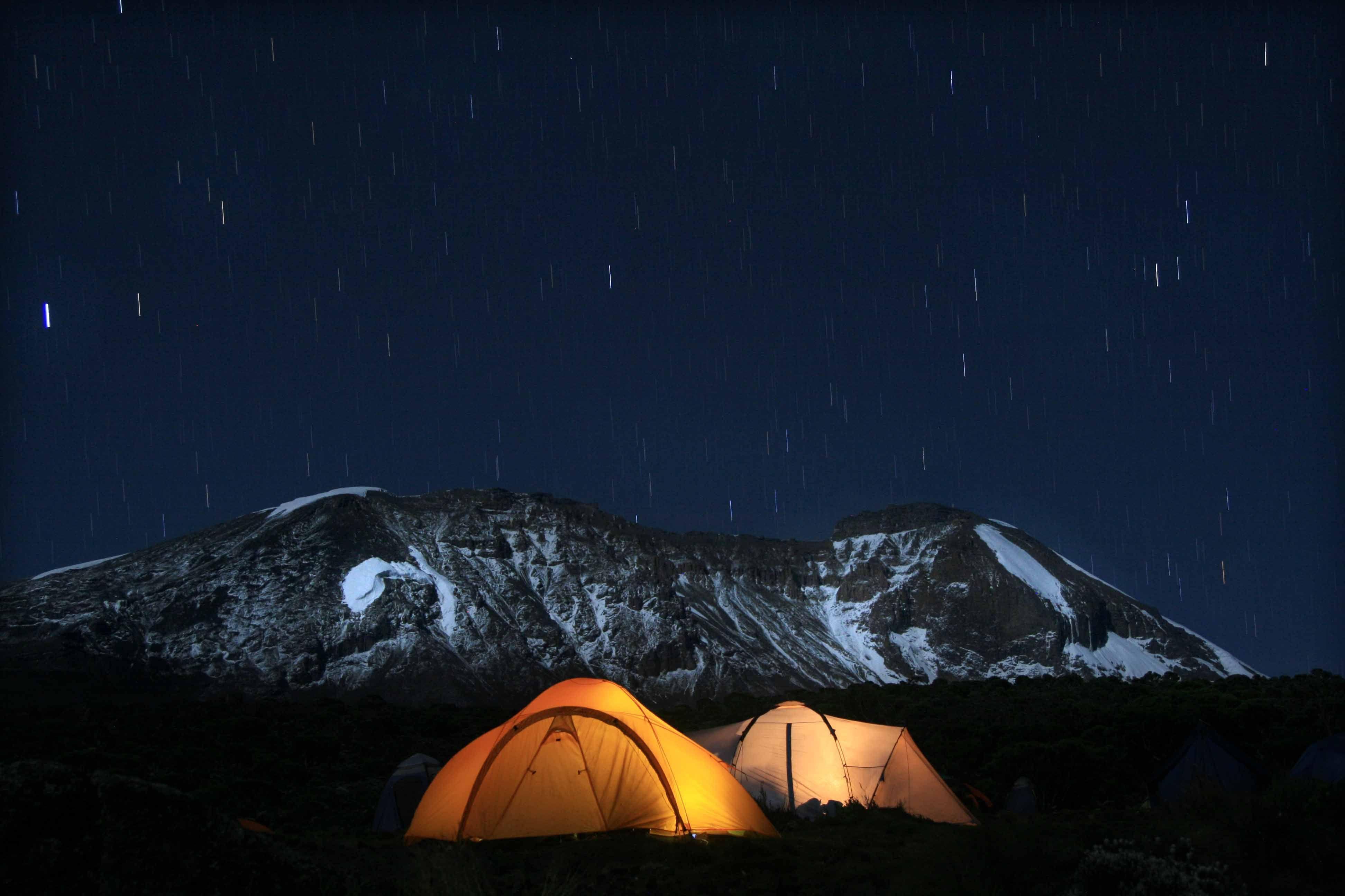 acampada en Kilimanjaro